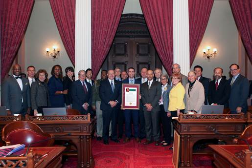 Senator McGuire and fellow State Senators, with Assemblymember Bill Dodd, recognized the state agencies who worked together during the Valley Fire response and recovery, including CalFire, CalRecycle, CHP, CalTrans and the California Office of Emergency Services.
